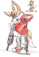 Red, the cutely violent fox. by Eclipser