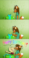 I gots you a present by MetallicUmbrage