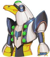 Megaman X Boss OC: AirBomber Seagull (Potrait) by Exerionz