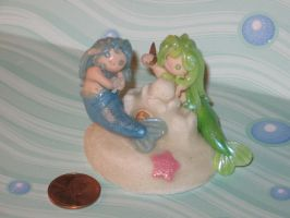 Polymer Clay Mermaids at Play by LaLaBears