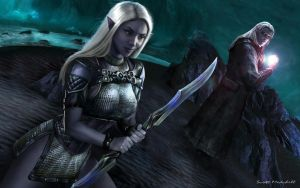 Drow Hunting Party by goatlord51