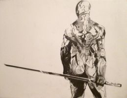 2011-09 Gray Fox (from Metal Gear) by coued