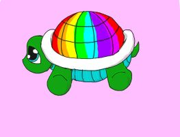 Bubbles the rainbow turtle by RayneHime