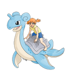 (misty and lapras) by kirbynat