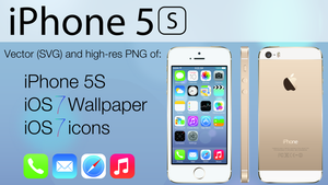 iPhone 5S and iOS 7 Vector Pack by TheGoldenBox