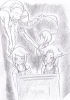 Playing Dead Space at night by Misha-needs-love