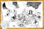 Uncle Scrooge Donald Duck and Nephews by CarlosMota