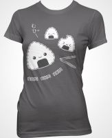Onigiri Shirt Charcoal by Fluffntuff
