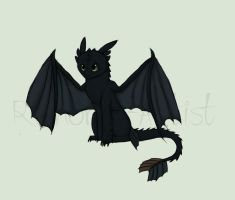 Toothless by Raindrop-Artist