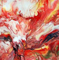 Abstract Fluid Painting 40 by Mark-Chadwick