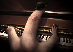 Piano Hand by BenGabbay