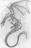 Pencil Dragon by Scatha-the-Worm