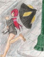 Parasoul in the Rain by kingofthedededes73