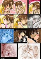 Kisses scene by hanukara