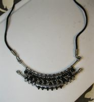 Twists and Turns in Black and White - Necklace by DanielleDucrest