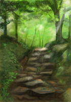 Forest Speedpaint by Akadafeathers