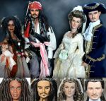 Pirates of the Caribbean dolls by noeling