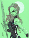 Warm Up 2-21, Gamora by Hodges-Art
