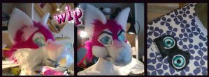 Fursuit head wip 3 by OnJedone