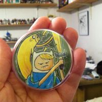 Adventure Time Original Art Button by johnnyism
