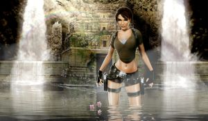 New Lara and the Water Temple by walkingcity