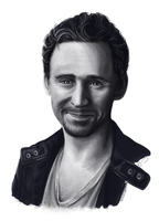 Hiddles Portrait No.4 by JazzySatinDoll