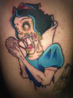 Snow white zombie tattoo by yayzus