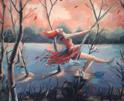 swing oil painting by barisgbo