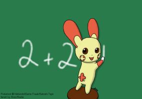 Pkmn - Doing Math with Plusle by StaciNadia