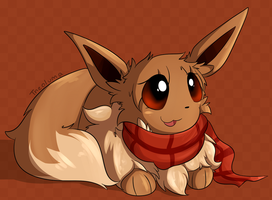 Eevee with a scarf by Theoluma