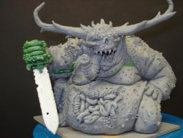 Nurgle with sword taking 5... by steveyoungsculptor