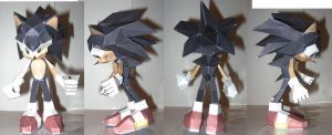 Sonic the Hedgehog - The Papercraft by technodrumguy