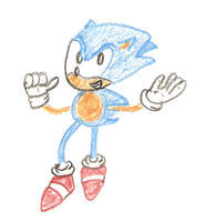 Sonic Drawing 3 Colored by namatamiku