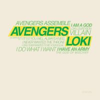 Typography project Loki by KimShuttle