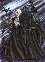 Lady Sith and her bodyguard by Noldofinve