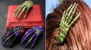 Zombie Hands Hairclips by kelleejm1