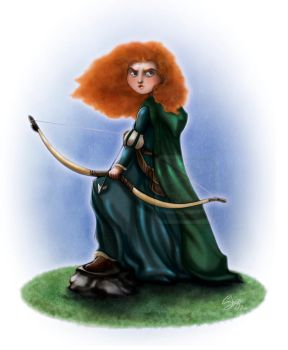 Princess Merida +commission+ by 77Shaya77