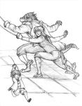 Fencing Practice by Fishguts-San