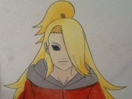 Deidara Reincarnated (colored) by KristinBlue