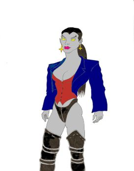 Leather Vampiress colored by Pyrionus