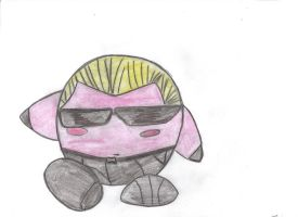 kirby as albert wesker by fatguy88
