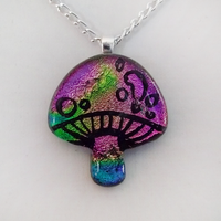 Colorful Magic Mushroom Glass by HoneyCatJewelry