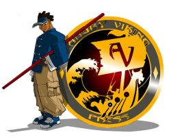 JUNIOR with AVP Org. Logo by ShoNuff44