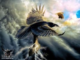 Huginn and Muninn by thecasperart