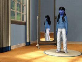 Sims 3 - My whole skin is turning blue by Magic-Kristina-KW