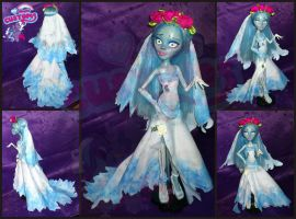 Emily from Corpse Bride OOAK by angel99percent