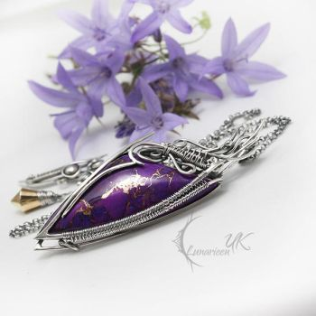 IMANHTIQUS-silver,purple turquoise pyrite by LUNARIEEN