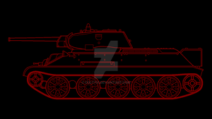 T-34/76 in red and black by COLT731
