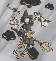 too late for witchsona week by Kna