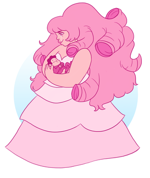 Rose and baby Steven by TeraTheTrex